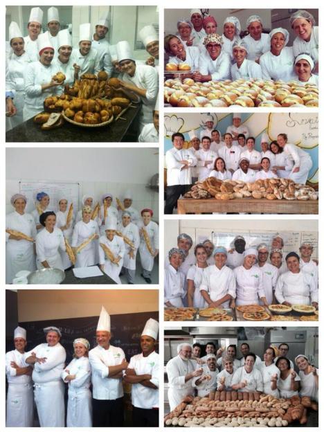 Turmas do curso Padeiro Master na Levain desde abril de 2013.